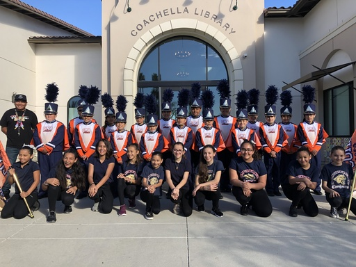 CMA's Drumline and Tall Flag Team perform at the CVTA Read To Succeed Event.